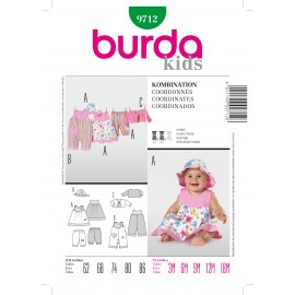 Coordinates Sewing Pattern Burda n°9712