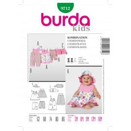 Patron Coordonnés Burda n°9712