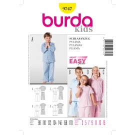 Pajamas Sewing Pattern Burda n°9747