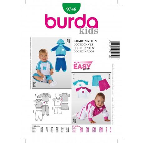 Patron Pyjama Burda n°9747