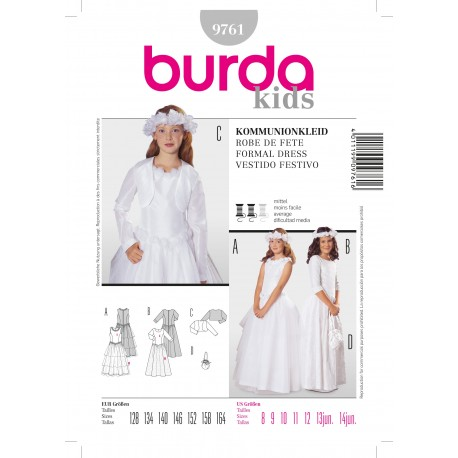 Formal Dress Sewing Pattern Burda n°9761