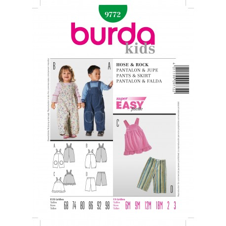 Pants & Skirt Sewing Pattern Burda n°9772