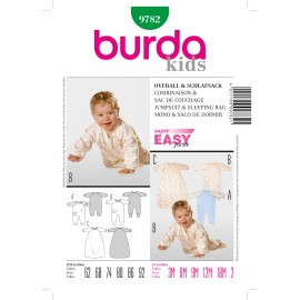 Jumpsuit & Sleeping Bag Sewing Pattern Burda n°9782