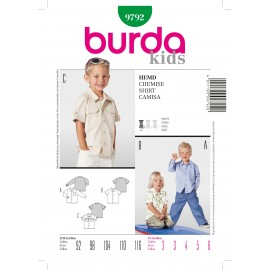 Shirt Sewing Pattern Burda n°9792