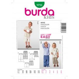 Patron Pantalon Burda n°9793