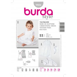 Christening Dress Sewing Pattern Burda n°9804