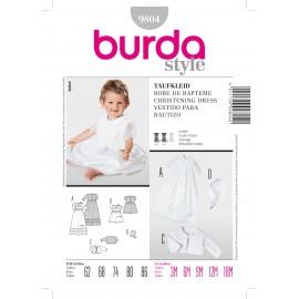 Patron Robe de baptême Burda n°9804