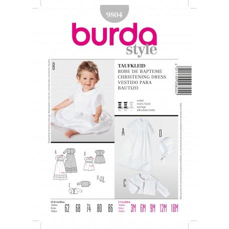 Christening Dress Sewing Pattern Burda n°9804