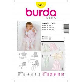 Patron Coordonnés Burda n°9831