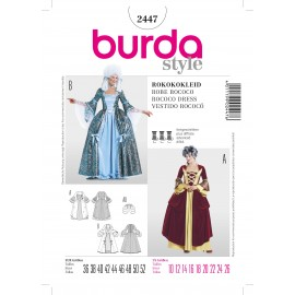 Rococo Dress Sewing Pattern Burda n°2447