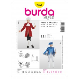 Prince & Mozart Sewing Pattern Burda n°2461