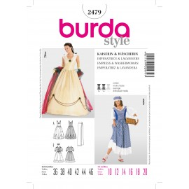 Empress & Washerwoman Sewing Pattern Burda n°2479
