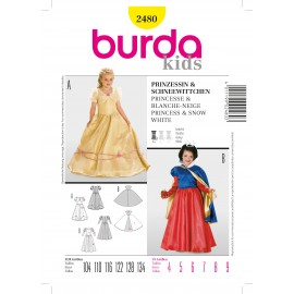 Patron Princesse & Blanche-neige Burda n°2480