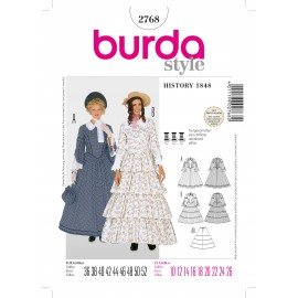 History 1848 Sewing Pattern Burda n°2768