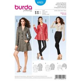 Jacket & Coat Sewing Pattern Burda n°6921