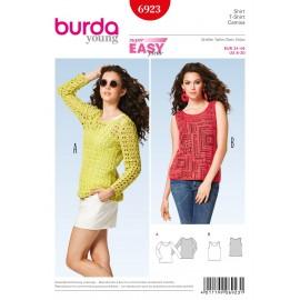 Patron Robe & T-shirt Burda n°6922