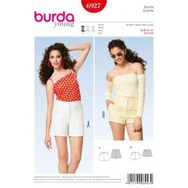 Patron Femme Shorts Burda n°6927