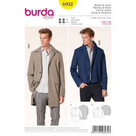 Patron Homme Manteau & Veste Burda n°6932