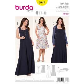 Patron Femme Robe & Veste Burda n°6947