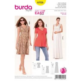 Patron Femme T-shirt & Robe Burda n°6956