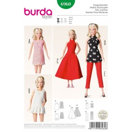Patron Habits de poupée Burda n°6960