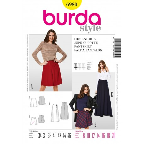 Patron Jupe Burda n°6979