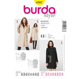 Coat Sewing Pattern Burda n°6987