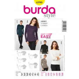 T-shirt Sewing Pattern Burda n°6990
