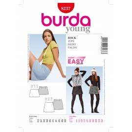 Rock Skirt Sewing Pattern Burda n°8237