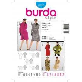 Patron Femme Manteau Burda n°8292