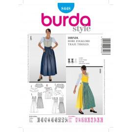 Patron Robe folklore Burda n°8448