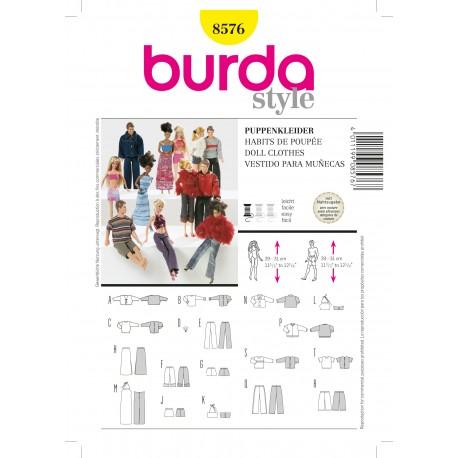 Doll Clothes Sewing Pattern Burda n°8576