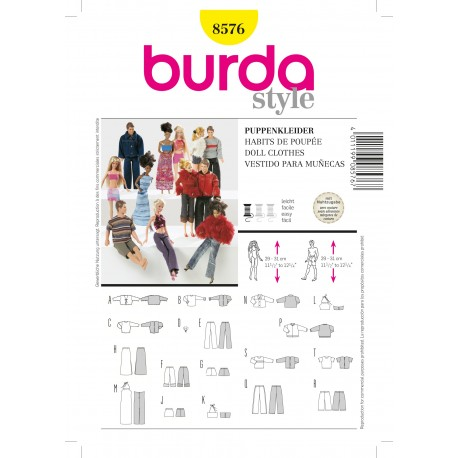 Patron Blouse & Robe Burda n°8517