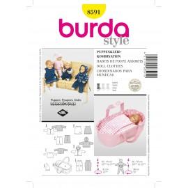 Patron Habits de poupée Assortis Burda n°8591