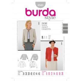 Patron Femme Veste Burda n°8949