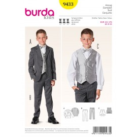 Complete Suit Sewing Pattern Burda n°9433
