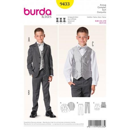 Complete Suit Sewing Pattern Burda n°9433