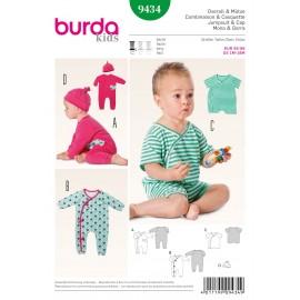 Patron Combinaison & Casquette Burda n°9434