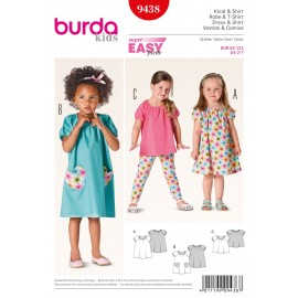 Dress & T-shirt Sewing Pattern Burda n°9438