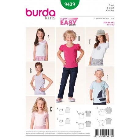 Patron Robe & T-shirt Burda n°9438