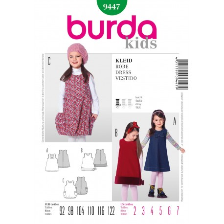Dress Sewing Pattern Burda n°9447