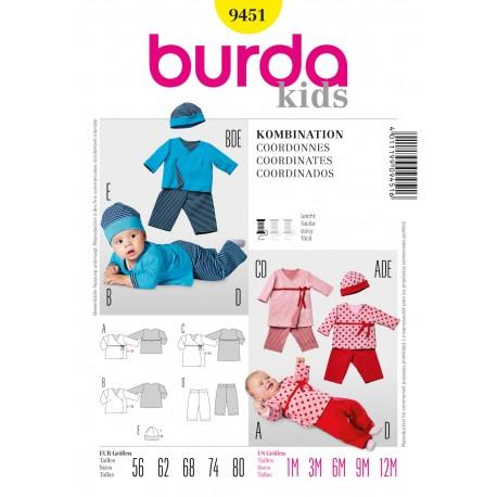 Patron Coordonnés Burda n°9450