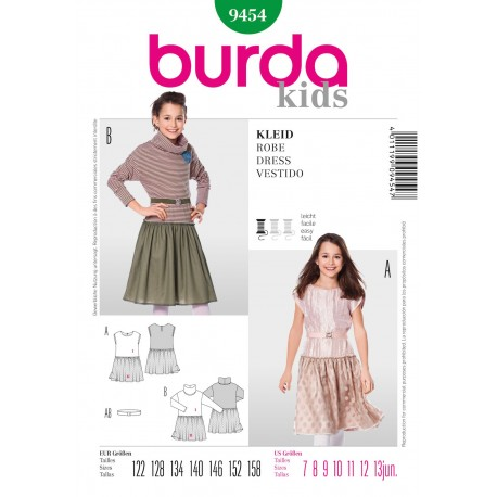Dress Sewing Pattern Burda n°9454