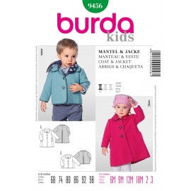 Coat & Jacket Sewing Pattern Burda n°9456