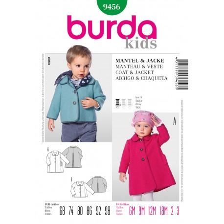 Coat & Jacket Sewing Pattern Burda n°9456