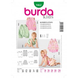Coordinates Sewing Pattern Burda n°9462