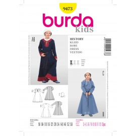 History Dress Sewing Pattern Burda n°9473
