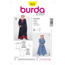 Patron Robe History Burda n°9473