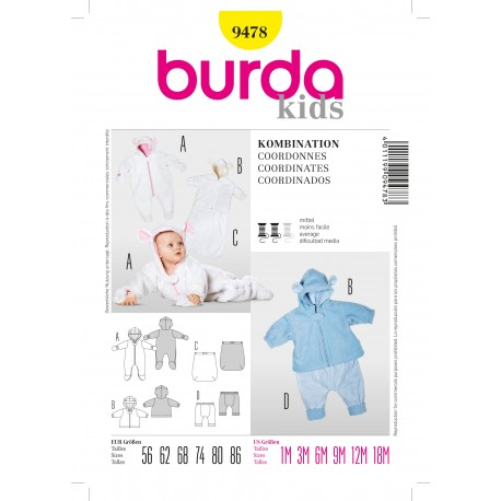 Coordinates Sewing Pattern  Burda n°9478