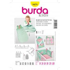 Patron Ensemble bebe Burda n°9479